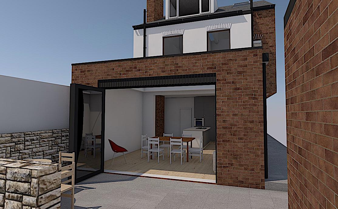 3_S8 Single storey extension sheffield architect