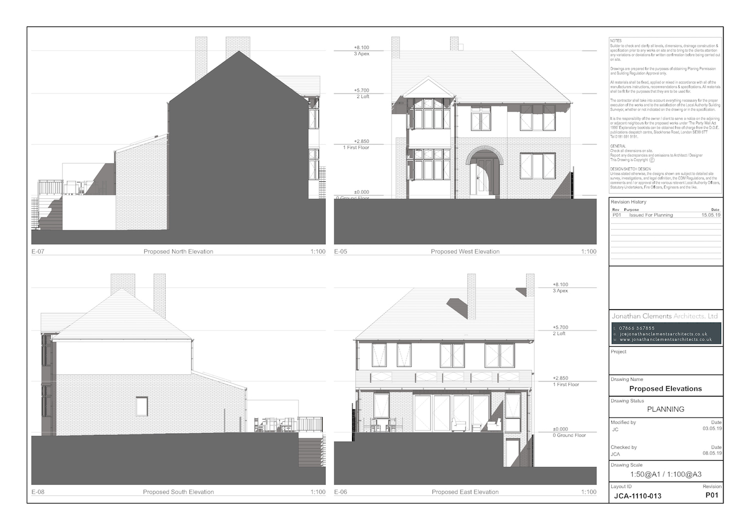 JCA-1159-013 Proposed Elevations